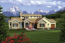 Dream House Plan - Mediterranean Exterior - Front Elevation Plan #70-1093