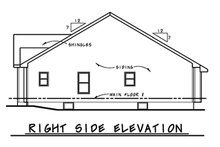 Architectural House Design - Right Side Elevation