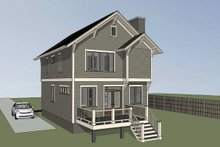 Dream House Plan - Craftsman Exterior - Other Elevation Plan #79-295