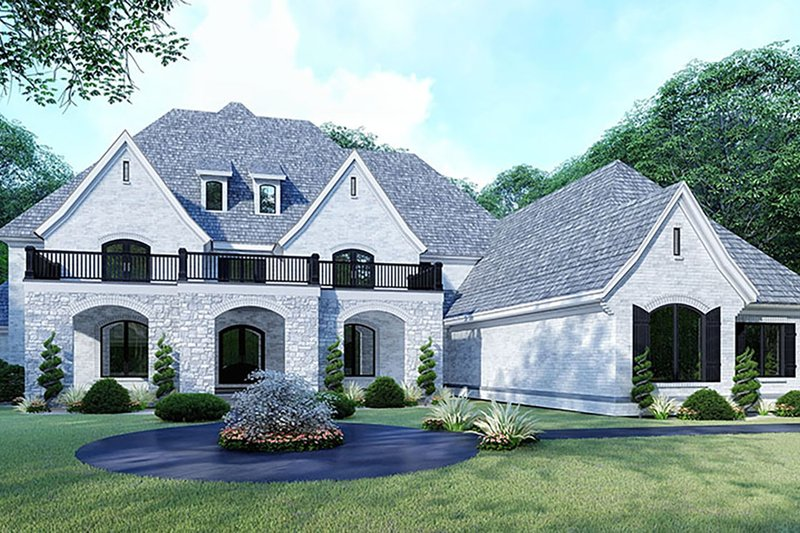 Mediterranean Style House Plan - 5 Beds 4.5 Baths 5615 Sq/Ft Plan #923-135 Exterior - Front Elevation