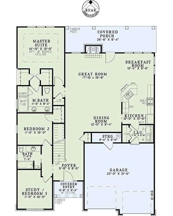 Traditional Floor Plan - Main Floor Plan Plan #17-2465