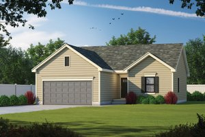 House Blueprint - Traditional Exterior - Front Elevation Plan #20-2352