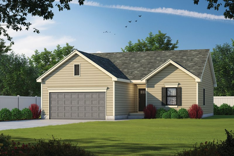 Traditional Style House Plan - 3 Beds 2 Baths 1176 Sq/Ft Plan #20-2352