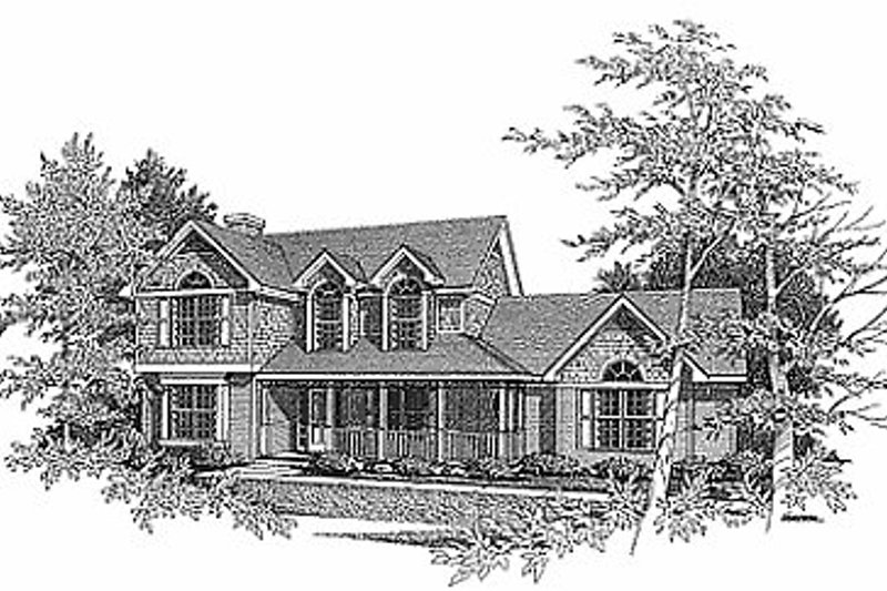 Farmhouse Exterior - Front Elevation Plan #70-262 - Houseplans.com