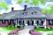 Southern Style House Plan - 3 Beds 3.5 Baths 3623 Sq/Ft Plan #45-214 Exterior - Front Elevation