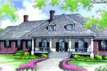 Dream House Plan - Southern Exterior - Front Elevation Plan #45-214