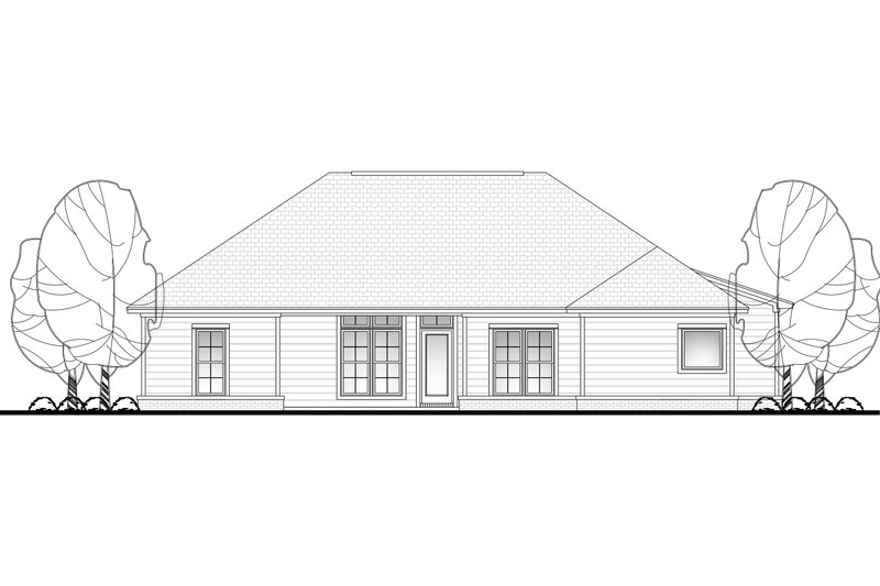 Craftsman Exterior - Rear Elevation Plan #430-96 - Houseplans.com