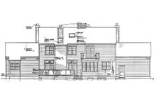 Southern Exterior - Rear Elevation Plan #3-223