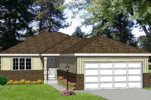 Ranch Exterior - Front Elevation Plan #116-151