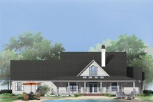 House Plan Design - Country Exterior - Rear Elevation Plan #929-791