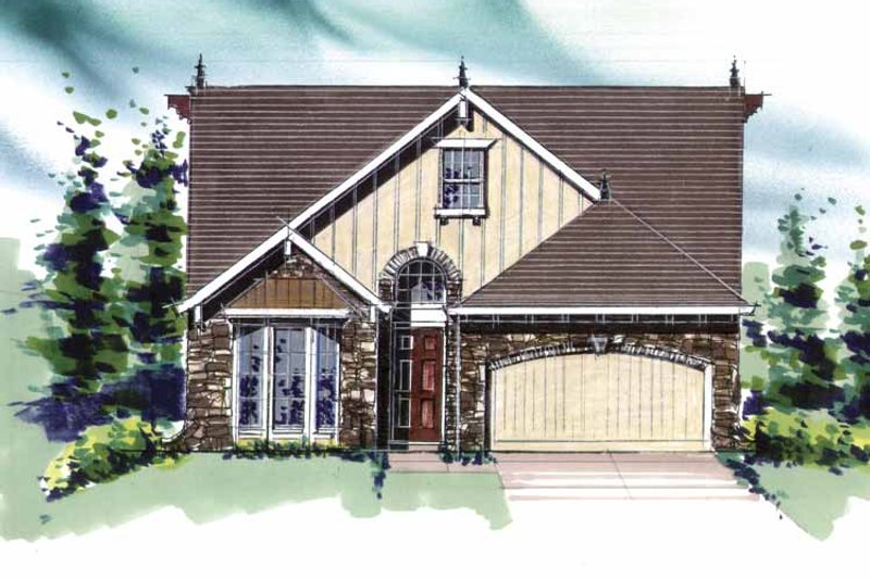 Traditional Exterior - Front Elevation Plan #509-260 - Houseplans.com