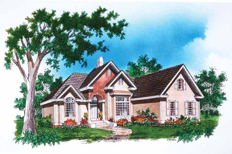 Traditional Exterior - Front Elevation Plan #929-489 - Houseplans.com
