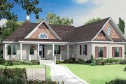 Ranch Style House Plan - 3 Beds 3 Baths 1792 Sq/Ft Plan #929-403 Exterior - Front Elevation