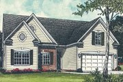 Traditional Style House Plan - 3 Beds 2 Baths 1458 Sq/Ft Plan #453-66 Exterior - Front Elevation