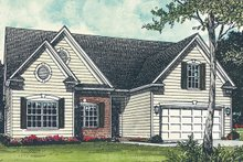 Dream House Plan - Traditional Exterior - Front Elevation Plan #453-66