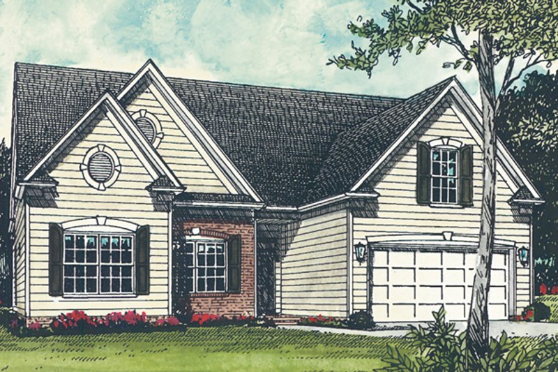 Traditional Exterior - Front Elevation Plan #453-66 - Houseplans.com
