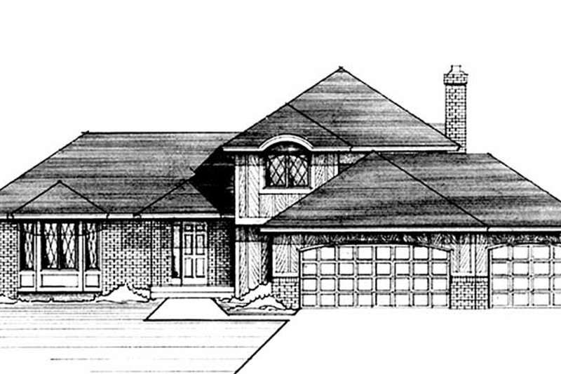 European Exterior - Front Elevation Plan #51-716 - Houseplans.com