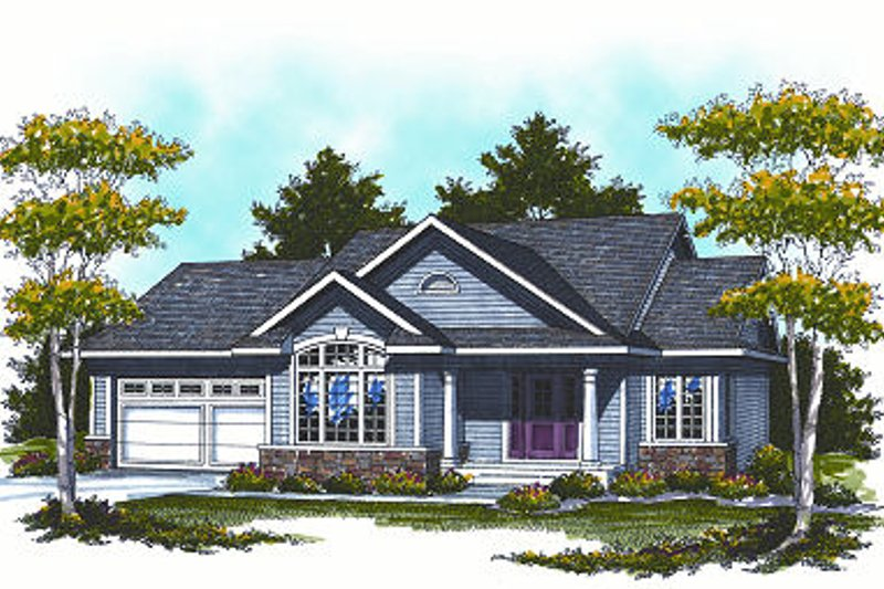 Country Exterior - Front Elevation Plan #70-856