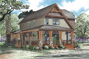 House Plan Design - Craftsman Exterior - Front Elevation Plan #17-3336