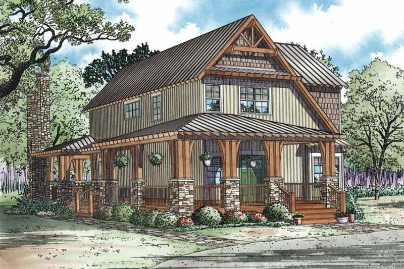 Dream House Plan - Craftsman Exterior - Front Elevation Plan #17-3336