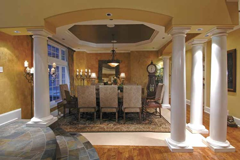 Country Interior - Dining Room Plan #132-483 - Houseplans.com