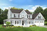 Traditional Style House Plan - 3 Beds 2.5 Baths 2102 Sq/Ft Plan #1010-80 Exterior - Front Elevation