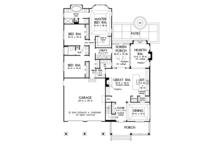 Ranch Floor Plan - Main Floor Plan Plan #929-994