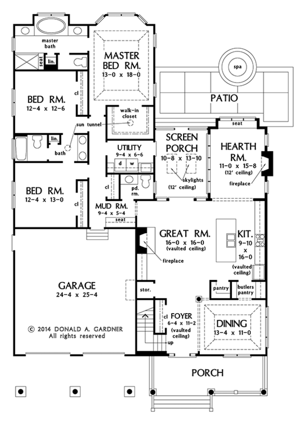 Ranch Floor Plan - Main Floor Plan Plan #929-994