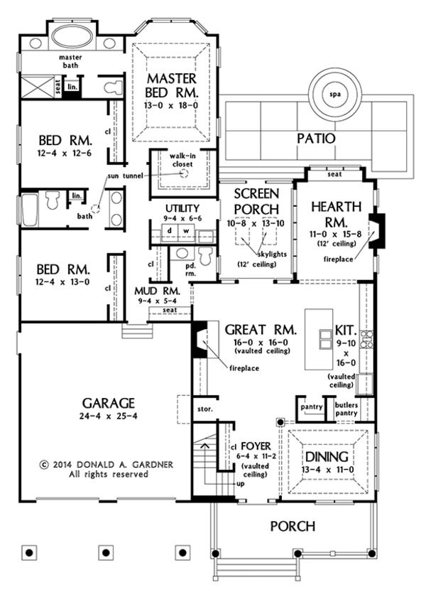 Dream House Plan - Ranch Floor Plan - Main Floor Plan #929-994