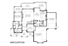 Craftsman Floor Plan - Main Floor Plan Plan #920-29