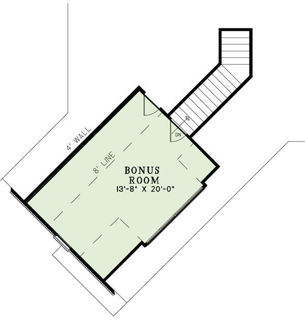 European Floor Plan - Upper Floor Plan Plan #17-2523