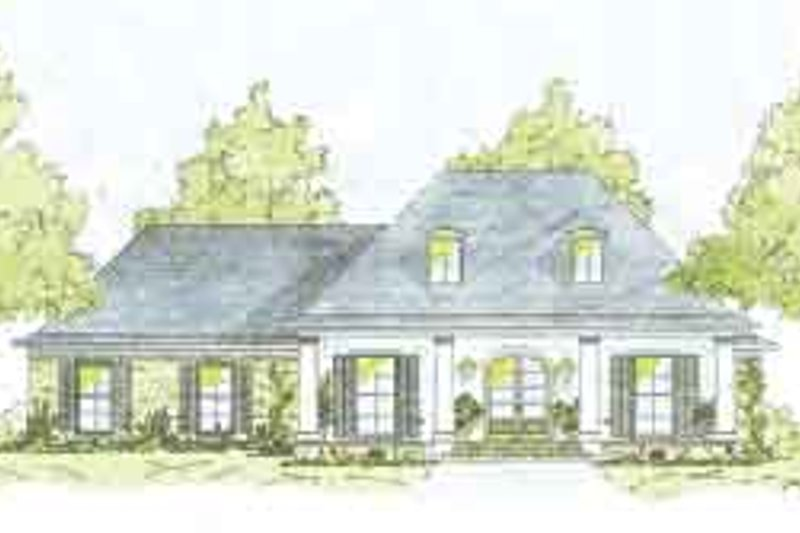 Southern Exterior - Front Elevation Plan #36-431