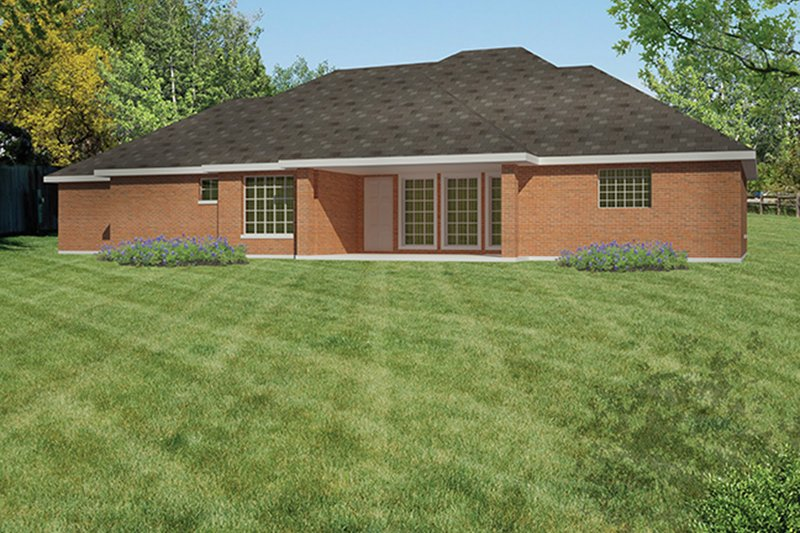 Traditional Exterior - Rear Elevation Plan #1061-9 - Houseplans.com