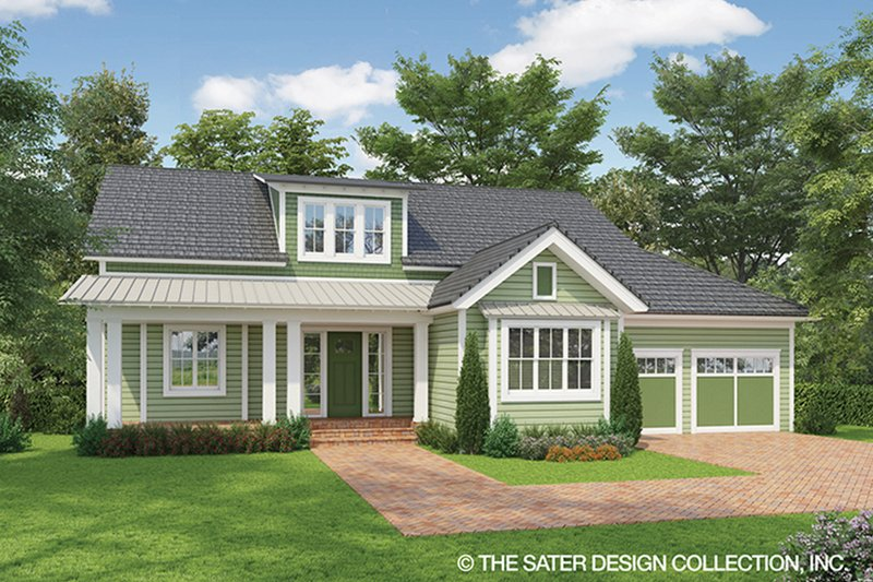 Country Style House Plan - 4 Beds 4.5 Baths 3643 Sq/Ft Plan #930-469 Exterior - Front Elevation