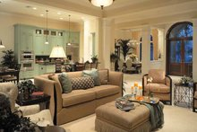 Mediterranean Interior - Family Room Plan #930-324