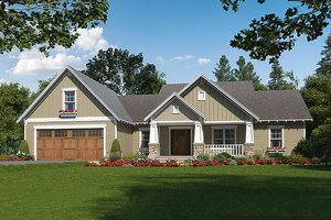 Craftsman style home, country design, elevation