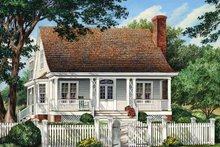 Home Plan - Traditional Exterior - Front Elevation Plan #137-358