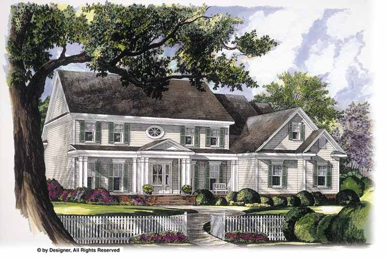 Classical Exterior - Front Elevation Plan #952-243