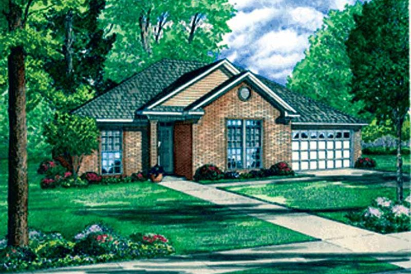 Ranch Exterior - Front Elevation Plan #17-3236