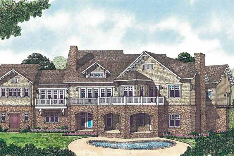 Craftsman Exterior - Rear Elevation Plan #453-458 - Houseplans.com