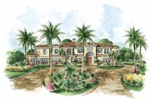 House Design - Mediterranean Exterior - Front Elevation Plan #1017-68