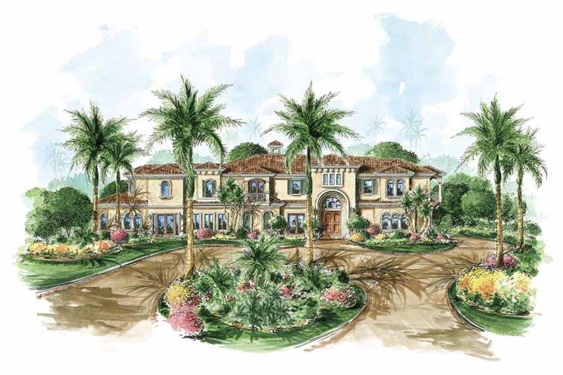 Dream House Plan - Mediterranean Exterior - Front Elevation Plan #1017-68