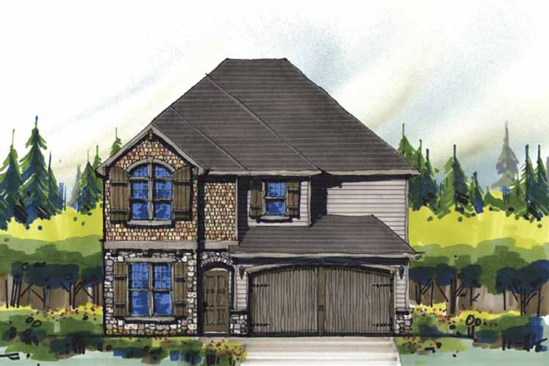 Country Exterior - Front Elevation Plan #509-335 - Houseplans.com