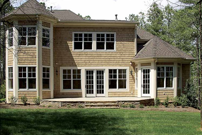 Country Exterior - Rear Elevation Plan #453-523 - Houseplans.com