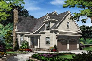 Traditional Exterior - Front Elevation Plan #929-1045