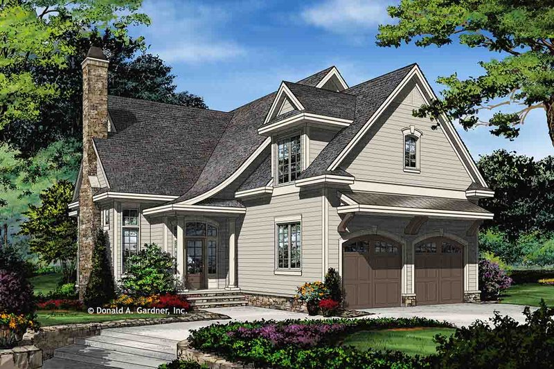 Architectural House Design - Traditional Exterior - Front Elevation Plan #929-1045