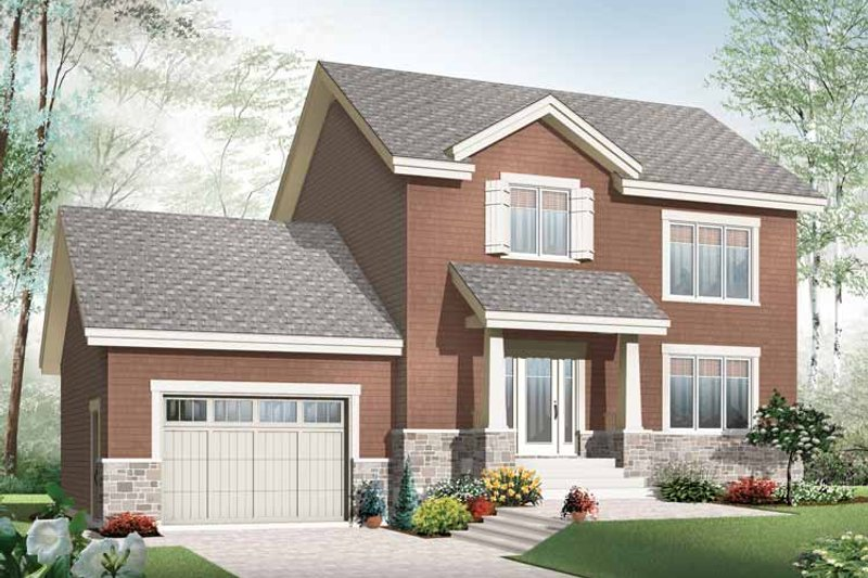 Dream House Plan - Traditional Exterior - Front Elevation Plan #23-2506