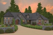 Tudor Style House Plan - 3 Beds 2.5 Baths 2821 Sq/Ft Plan #943-44 Exterior - Front Elevation
