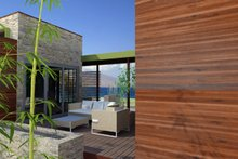 House Design - Contemporary Exterior - Outdoor Living Plan #484-12