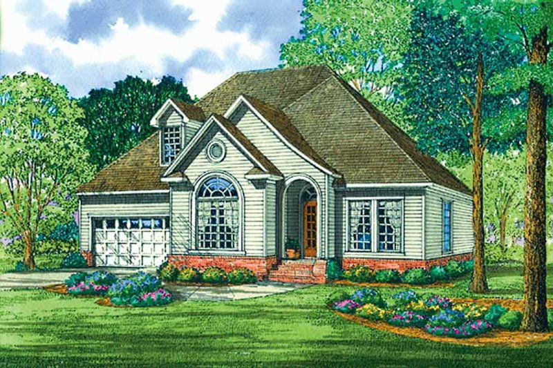 Country Exterior - Front Elevation Plan #17-3140